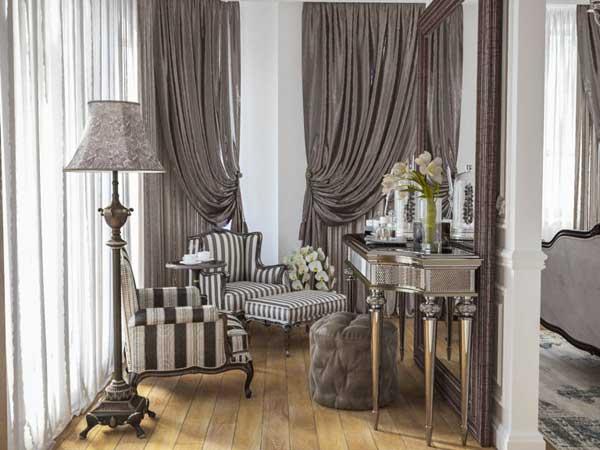 Трехслойные шторы в гостиную