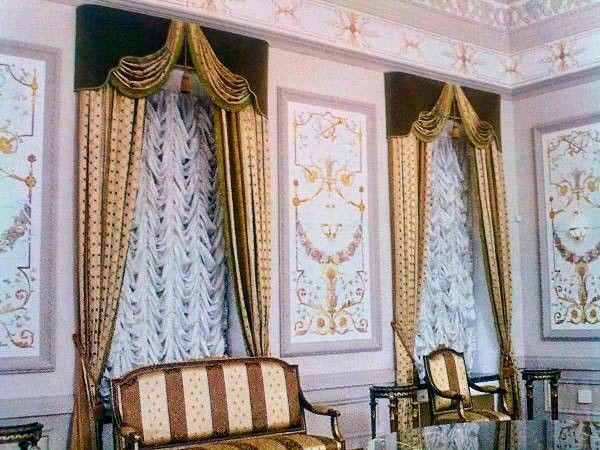 Французские шторы в комбинации с классическими