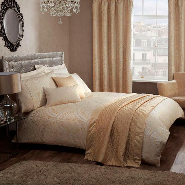 Текстиль в стиле Арт-деко для спальни