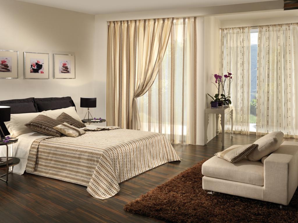 Декорирование современной спальни
