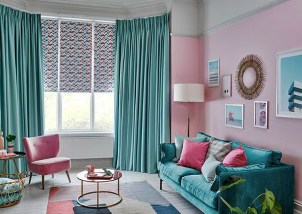 Комбинированные шторы+ рулонные шторы