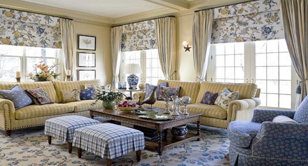 Текстиль в стиле кантри