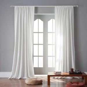 Великолепные белые шторы в пол