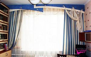 Текстиль детской комнаты в морском стиле