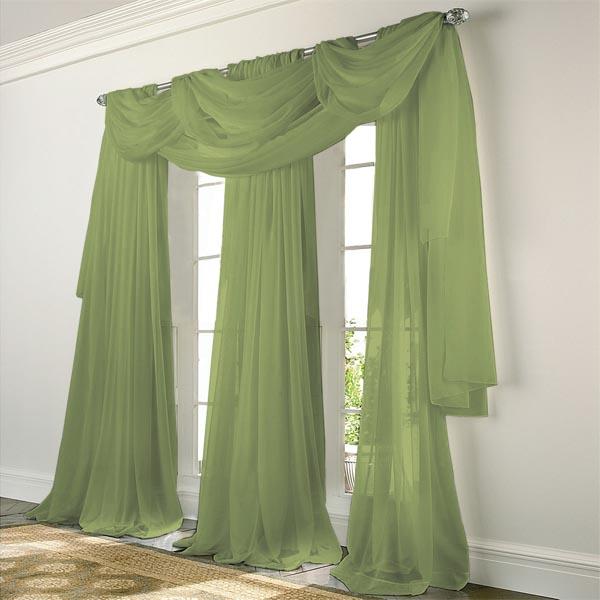 Зеленые, дизайнерские шторы
