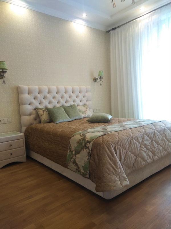 Текстиль в спальню ШСП0041, бежево-зеленый