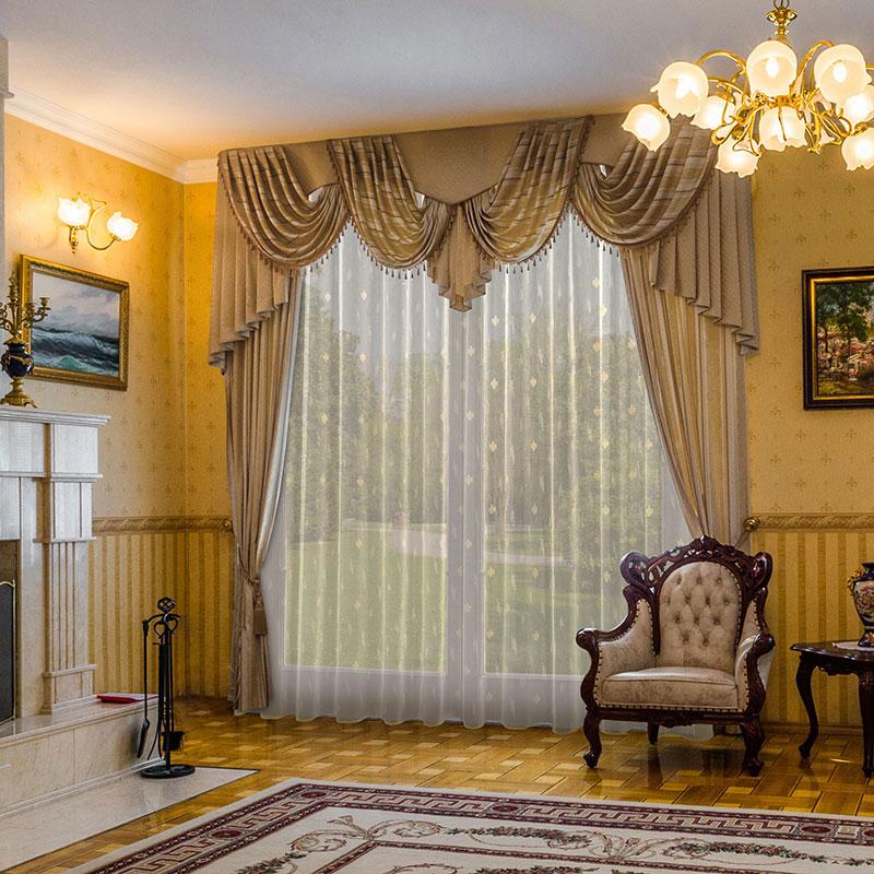 Роскошные портьеры в гостиной