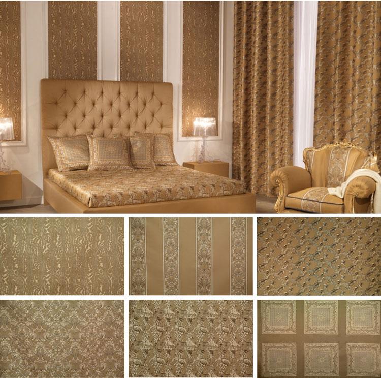 Золотистая спальня в стиле Барокко