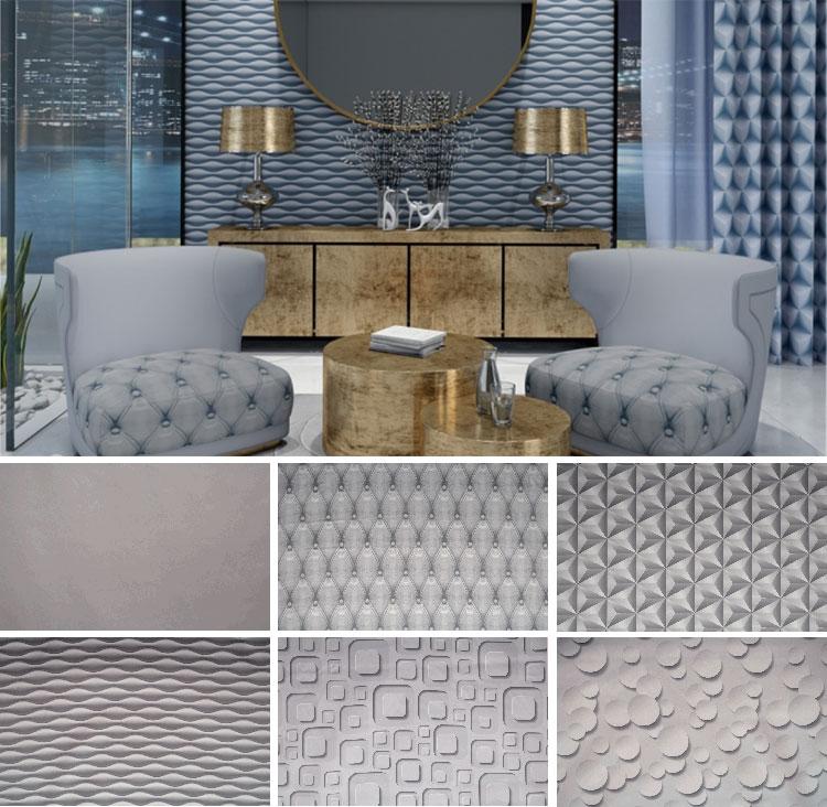 Современные текстильные изделия с геометрическим принтом