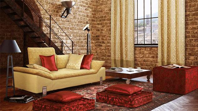 Текстиль в гостиную Лофт