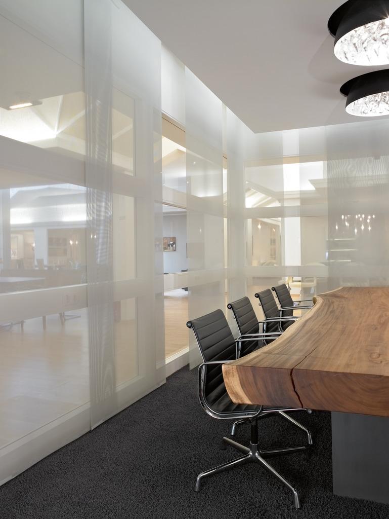 Японские шторы панели в офисе