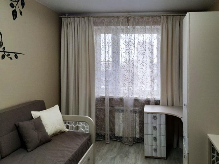 Современные шторы с тюлем для гостиной