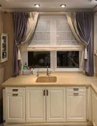 Классические шторы на кухню слайдер