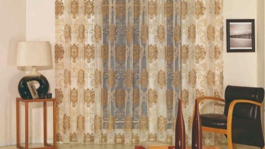 Шторы в гостиную - тюль с классическим рисунком