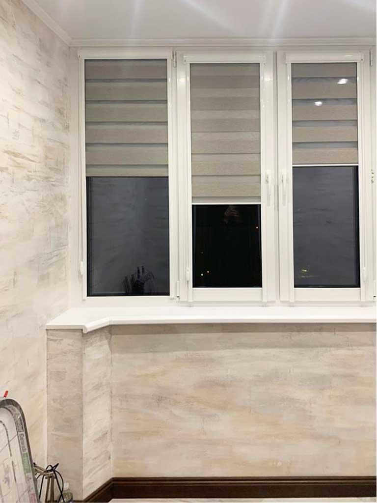Шторы для оформления балкона