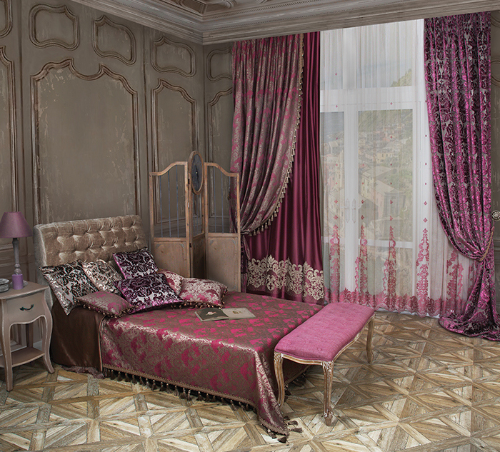 Роскошные шторы в спальню