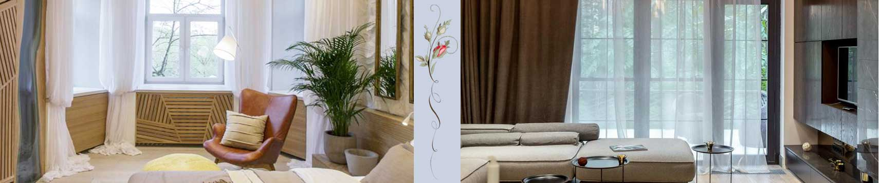 Пошив и дизайн современных штор в гостиную
