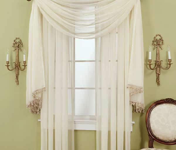 Тюль вуаль без штор в зал