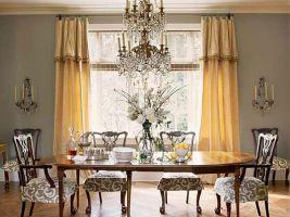 Золотистые шторы в гостиной