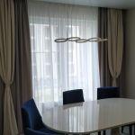 Шторы в гостиную ШГ063. Комбинированные, серые, классика