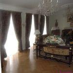 Шторы в гостиную ШГ0045, коричневый с подхватом, классика