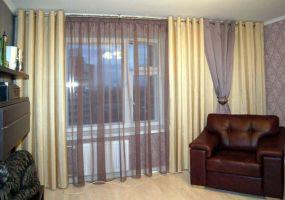 ШГ0097 Шторы в гостиную Трехслойные шторы